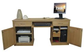 baumhaus hidden home office 2. mobel oak large hidden office twin pedestal desk baumhaus home 2