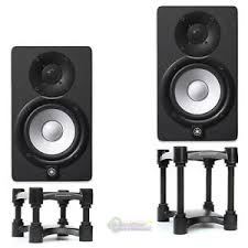 yamaha hs8 pair. image is loading yamaha-hs8-studio-monitor-blk-pair-w-isoacoustics- yamaha hs8 pair