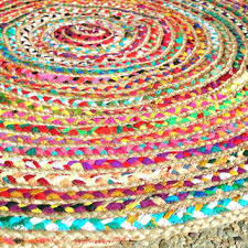 cotton rag rug round chic hippie area 4 circle colorful jute and rugs machine washable cotton rag rug rugs washable