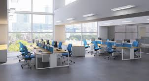 furniture office design. O-01 This Airy. Open Plan Office Design Is Perfect For Call Centres. Furniture