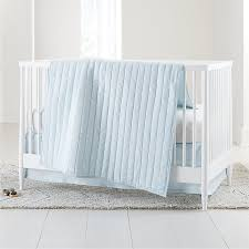 blue baby bedding crate and barrel