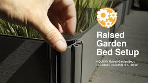 how to set up a holman raised garden bed