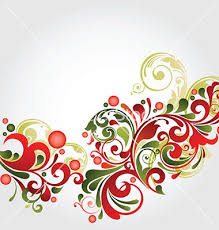Christmas Swirls Christmas Swirls Vector By Onfocus On Vectorstock Floral