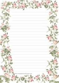 Paper With Flower Border Lined Stationery With Border Of Flowers Lined Stationery