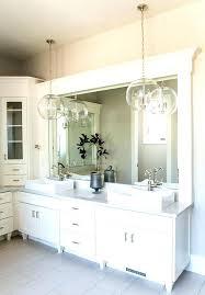 hanging pendant lights over bathroom vanity