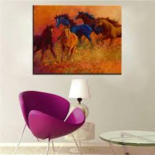 large size printing oil painting range wild horses wall painting steampunk wall art picture for living on wild horses wall art with large size printing oil painting range wild horses wall painting