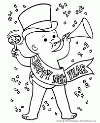Small Picture 19 Happy New Year Coloring Pages Printable Sheets Your Printable