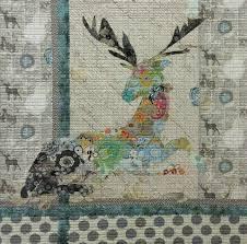 Oh Deer Collage Quilt Pattern by Laura Heine &  Adamdwight.com