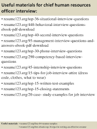 ... 12. Useful materials for chief human resources officer ...