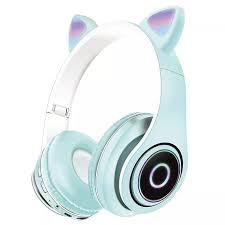 Tai Nghe Không Dây Mới Tai Nghe Bluetooth Tai Mèo Dễ Thương Tai Nghe  Bluetooth Với Đèn LED Và Micrô Cho PC Điện Thoại Máy Tính Xách Tay PS4