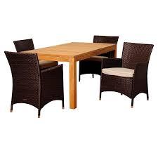 furniture pc teak lounge chair  table conversation set