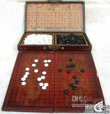 Board Games In Wooden Box Wholesale Cheap Chinese Go Game Set Leather Box Goban Board And 42