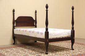 Pineapple Bedroom Furniture Sold Pineapple 4 Poster Twin Size 1925 Mahogany Bed Harp