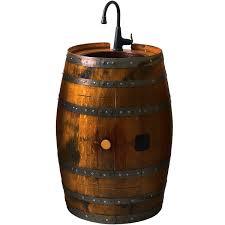 reversible reclaimed wine barrel. reclaimed wine barrel bar sink reversible