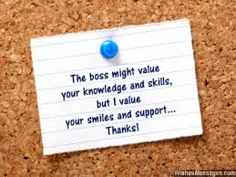 Thank You Message To Boss Thank You Notes For Colleagues Quotes And Messages