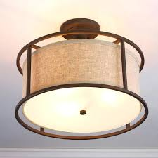 caged ceiling fan with drum light lamp shade kit