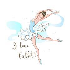 Premium Vector | Little ballerina. ballet. dancing. <b>i love ballet</b> ...