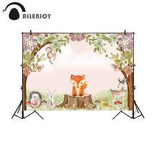 <b>Allenjoy photography backdrop</b> forest animal birthday party ...