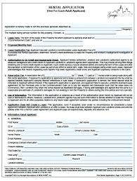 Rental Application Word Landlord Tenant Form Lease Agreement Forms ...