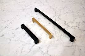 brushed brass hardware. matte-black-brushed-brass-drawer-pulls brushed brass hardware l