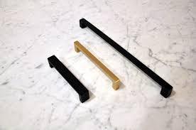 matte black brushed brass drawer pulls