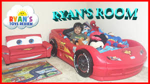 Lightning Mcqueen Bedroom Furniture Ryans Room Tour Disney Pixar Cars Lightning Mcqueen Toys Theme