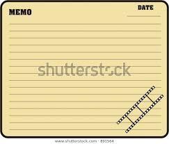 Blank Memo Stock Vector Royalty Free 891564