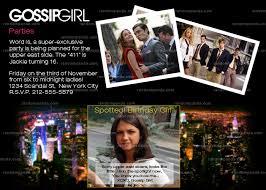 Gossip Girl Party Invitation Birthday Graduation Announcement