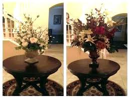 pedestal foyer table ideas round decoration small ped