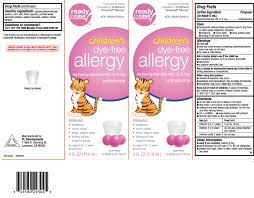 Benadryl Chart For 2 Year Old Childrens Dye Free Allergy Liquid P L Development Llc