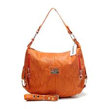 Coach Madison Embossed Small Orange Hobo DFA