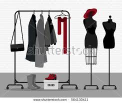 Mannequin Coat Rack Vector Illustration Coat Rack Showroom Closet Stock Vector 100 37