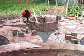 outdoor brick fire pit large designs with red and backyard patio building patios pits glamorous