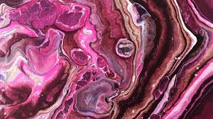 abstract fluid acrylic pour painting dirty pour technique raspberry truffle