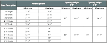 what size is a standard garage door standard size door standard door opening width standard size