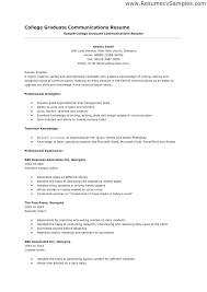 Sample Of A College Resume Objective Resumes Examples College Resume