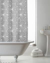 modern grey shower curtain. Country Club Shower Curtain 180x180 Skandi Grey Geometric Bathroom Modern