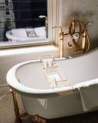 brass details bathroom interiors exteriors