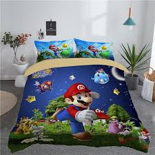 3d super mario bros bedding set