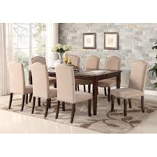 cherry wood dining room table. Simple Cherry Rowena 9 Piece Cherry Wood Contemporary Rectangular Formal Dinette Dining  Room Table U0026 8 Side Upholstered For M