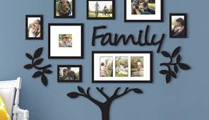 sets ideas frame tree black decoration photo without and set large family michaels picture decal for