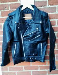 details about bnwot badass vintage brando perfecto cafe racer biker punk leather jacket s m