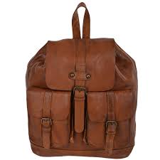 vintage wash leather rucksack 7990 rust