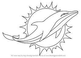 Team colors of the miami dolphins. Miami Dolphins Logo Blank Dolphin Coloring Pages Football Coloring Pages Miami Dolphins Logo