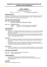 Part Time Job Resume Samples Inspirational 25 Sample Resume For