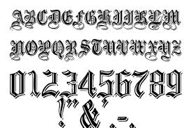 Font Styles For Tattoos Number Font Styles Magdalene Project Org