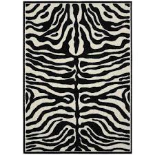 safari black ivory 5 ft x 7 ft area rug