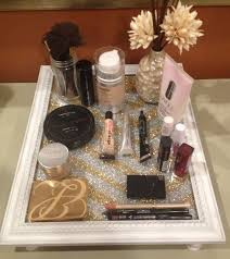 homemade vanity tray sold on etsy! holds makeup, perfumes, brushes, etc.  some even hang it on walls as a nice