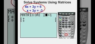 how to use matrices to solve systems of equations on a ti83 math wonderhowto
