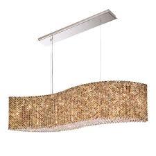 schonbek re4821 401 stainless steel refrax 13 light 48 wide crystal linear chandelier with swarovski crystals lightingshowplace com